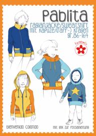 Farbenmix naaipatroon Pablita, raglanvest--shirt maat 86-164.