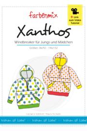 Farbenmix papier patroon Xanthos maat 86/92 - 146/152