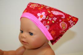 Bandana babyborn rood paisley