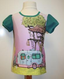 Shirt 'op de camping' 116-152