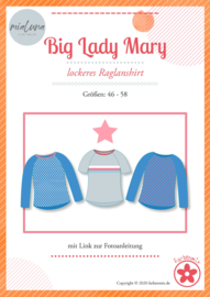 Farbenmix papier naaipatroon  raglan shirt BIG LADY Mary  46 - 58