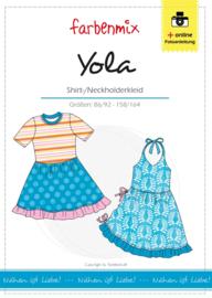 Farbenmix papier patroon jurk Yola  86/92 -158/164