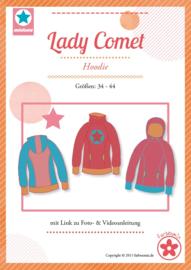 Farbenmix papier patroon lady comet, hoodie 36-44