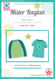 Farbenmix naaipatroon Mister Raglan herenshirt XS-XXXL