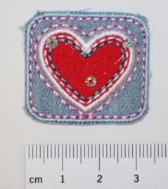 Applicatie rechthoek met fuchsia hart