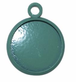 Bedeltje met setting 12 mm groen, per stuk