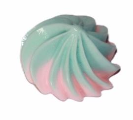 Flatback ijs toefje unicorn 20x15 mm, per stuk