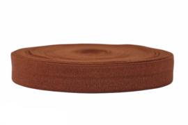 Elastisch band koffie-bruin 16 mm per 5 meter