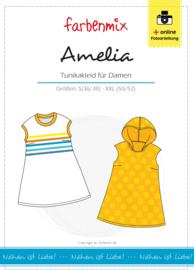 Farbenmix papier naaipatroon tuniek Amelia S (36/38) -XXL (50/52)