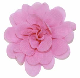 Stoffen bloem 5 cm roze