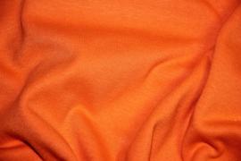 Felle oranje boordstof. Rondgebreid 50cm. Per 25 cm