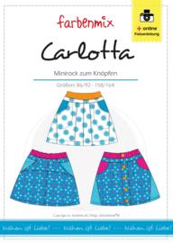 Farbenmix papier patroon rok Carlotta  86/92 -158/164