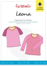 Farbenmix papier naaipatroon Leona raglanshirt 34/36 - 46/48