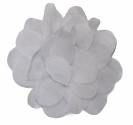 Stoffen bloem 5 cm wit