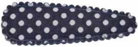 kniphoesje katoen donkerblauw met witte stip 5 cm