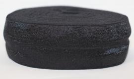Elastisch biaisband 40 mm zwart