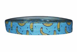 Elastische biaisband let's go banana's  16 mm per 0,5 meter