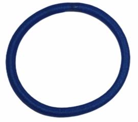 Haarelastiekje kobaltblauw +/- 45 mm, dikte 4mm