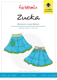 Farbenmix papier patroon rok Zucka  86/92 -158/164