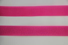 Klittenband 25 mm fuchsia, per 0,5 meter