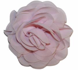 Stoffen bloem 8 cm lichtroze
