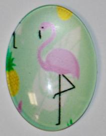 Glas flatback cabochon flamingo mint 18 x 25 mm