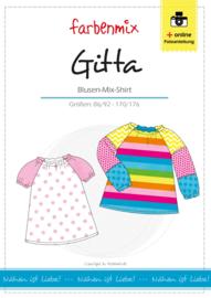 Farbenmix papier patroon shirt Gitta  86/92 -170/176