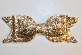 Haarstrik goud op french barrette clip