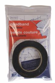 Vlieseline naadband zwart 1 cm 12,5 meter