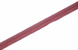 Elastisch paspelband glans/mat old rose, per 0,5 meter