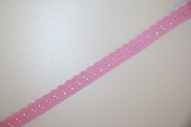 Elastische biaisband met schulprandje (vouwkant) lichtroze 10mm per 0,5 meter