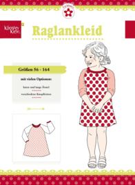 Farbenmix papier patroon kimperklein, Raglankleid maat 56-164