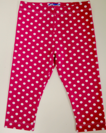 3/4 leggings pink dots