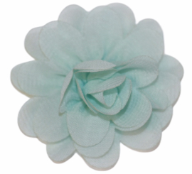 Stoffen bloem 5 cm mintgroen