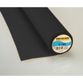 Vlieseline geweven G785 90 cm breed per meter kleur zwart