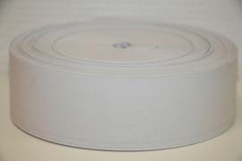 Soepel elastiek wit 51 mm breed per meter