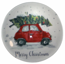 Glas cabochon 25mm: Fiat merry Christmas