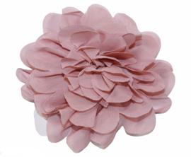 Stoffen bloem 10 cm oudroze