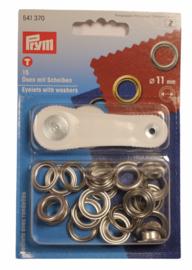 Nestelringen Prym 11mm zilverkleur, 15 stuks