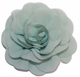 Stoffen bloem 8 cm mint
