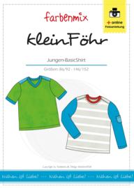 Farbenmix papier patroon KleinFohr ( basic jongensshirt)  86/92 - 146/152
