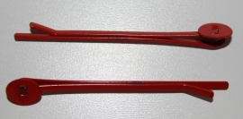 Schuifspeld 50 mm met plakvlak 5 mm rood, per stuk