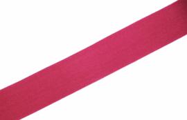 Elastisch biaisband/vouwtres MAT kleur fuchsia 20 mm per 0,5 meter