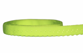 Elastische biaisband met schulprandje (vouwkant) neon-geel 10mm per 0,5 meter