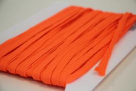 Veterband dubbeldik 9mm neon oranje, per meter