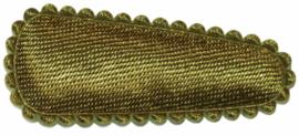 kniphoesje satijn effen mosgroen 3 cm