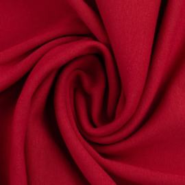 Rode boordstof. Rondgebreid 48cm. Per 25 cm