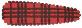 kniphoesje katoen rood zwart geruit 5 cm