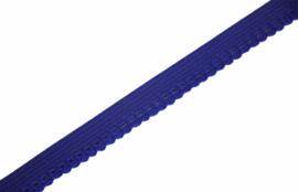 Elastisch kantje kobaltblauw 10 mm, per 0,5 meter