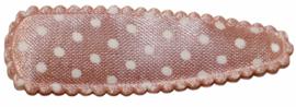 kniphoesje zalmroze met witte stip satijn 5 cm